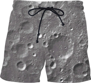 Moon Surface Swim Shorts