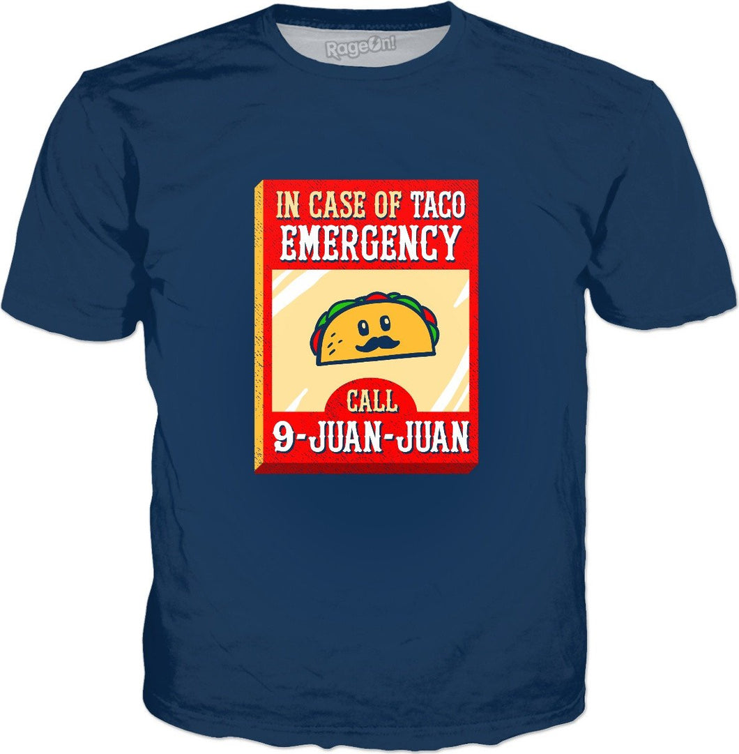 9 Juan Juan In Case Of Taco Emergency T-Shirt