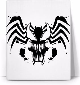 Venom Face/Logo Combo Canvas Wall Art