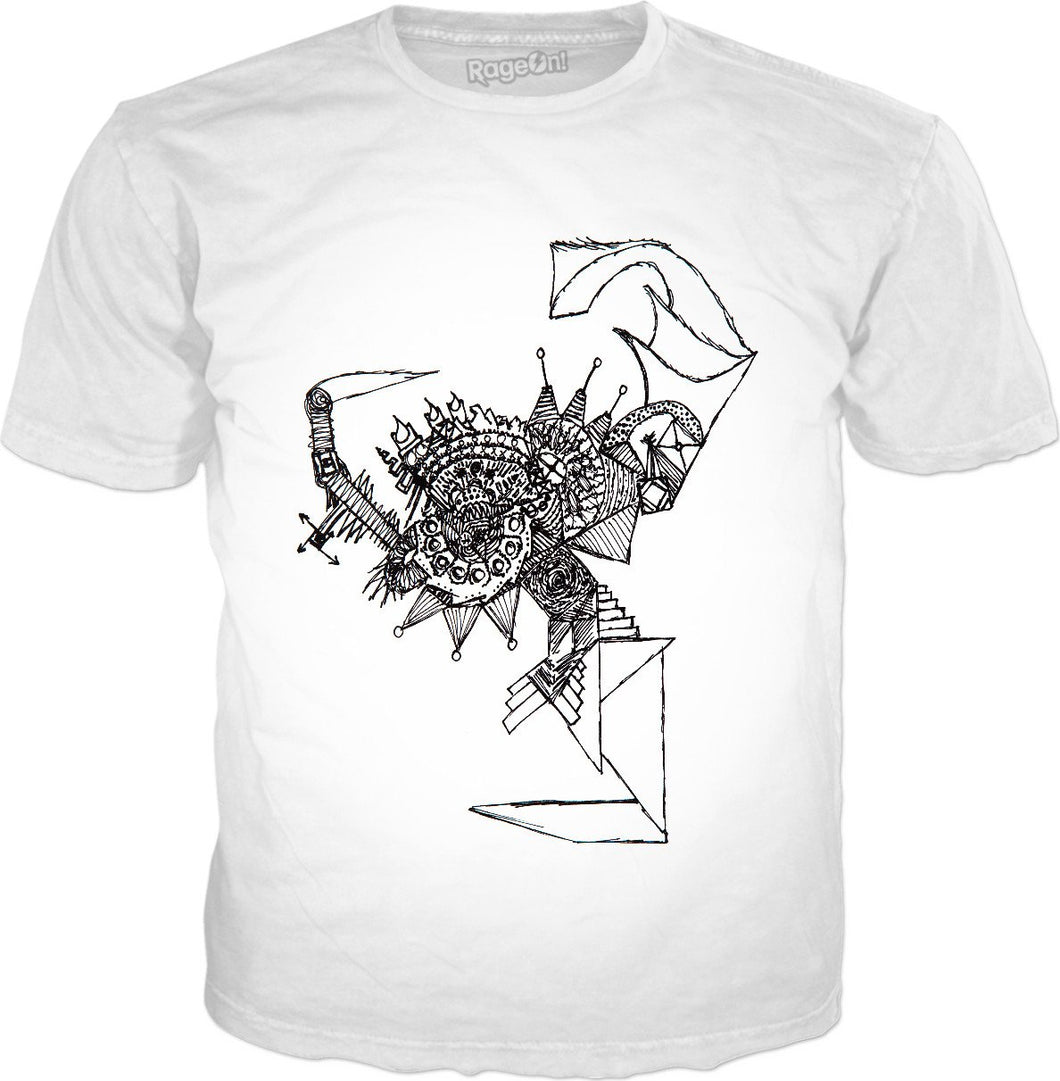 Ancient Stairway To Mysticism Classic T-Shirt White