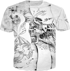 Abstract Elastic T-Shirt