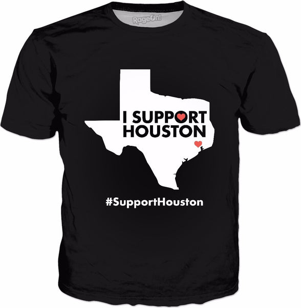 I Support Houston Classic Black T-Shirt