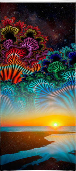 Fractal Sky Beach Towel