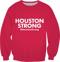 Houston Strong Red Crewneck Sweatshirt