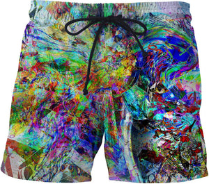 Barfing Beautifully Swim Shorts