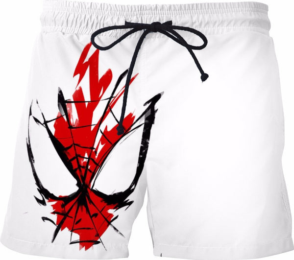 Spiderman Graffiti Face Swim Shorts