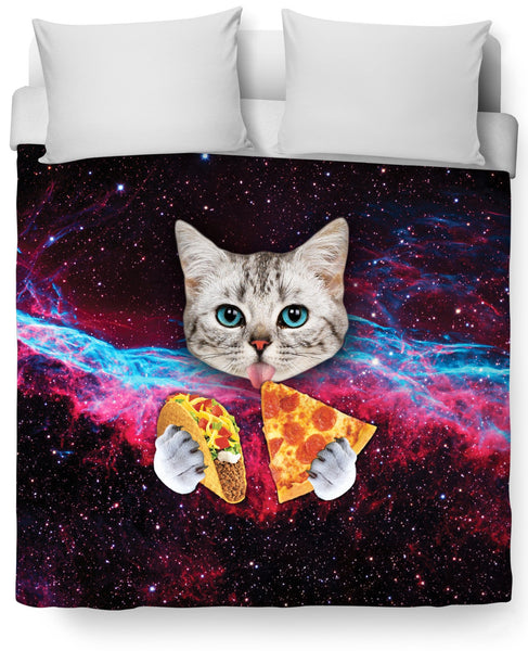 Taco Cat Duvet Cover