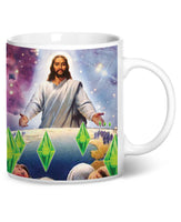 Jesus Died For Your Sims Coffee Mug