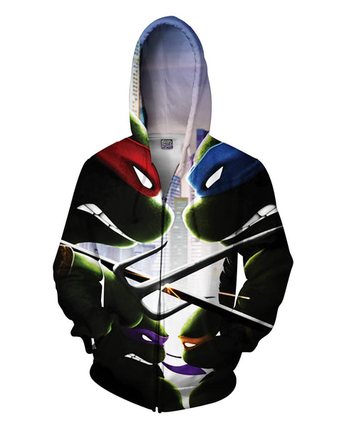 Turtle Power Zip-Up Hoodie