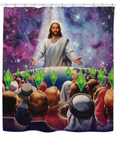 Jesus Died For Your Sims Shower Curtain