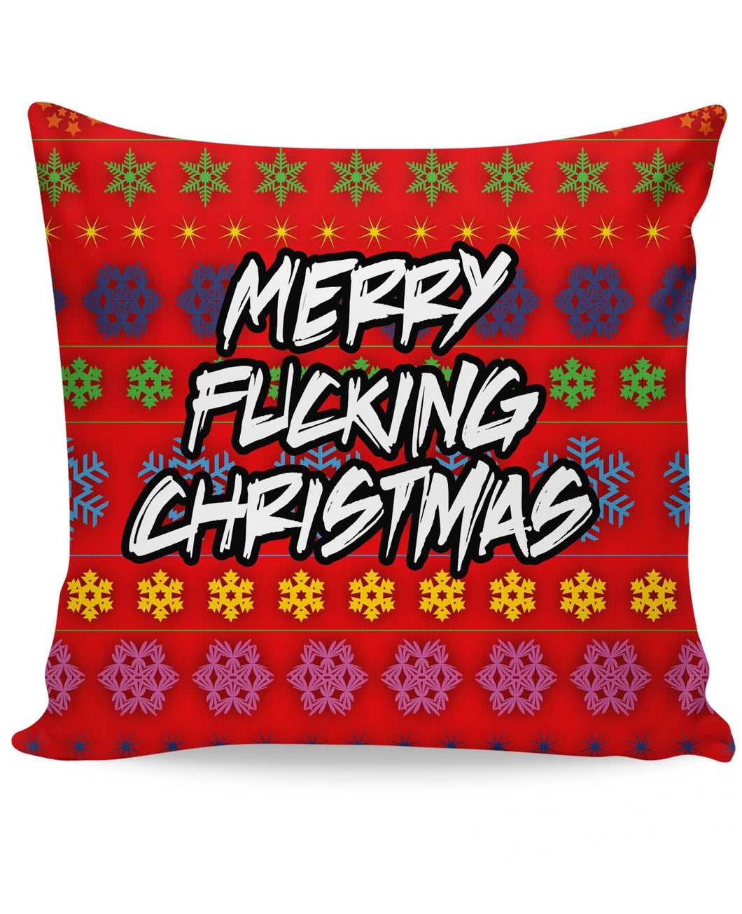 Merry Fucking Christmas Couch Pillow