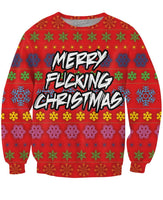 Merry Fucking Christmas Crewneck Sweatshirt