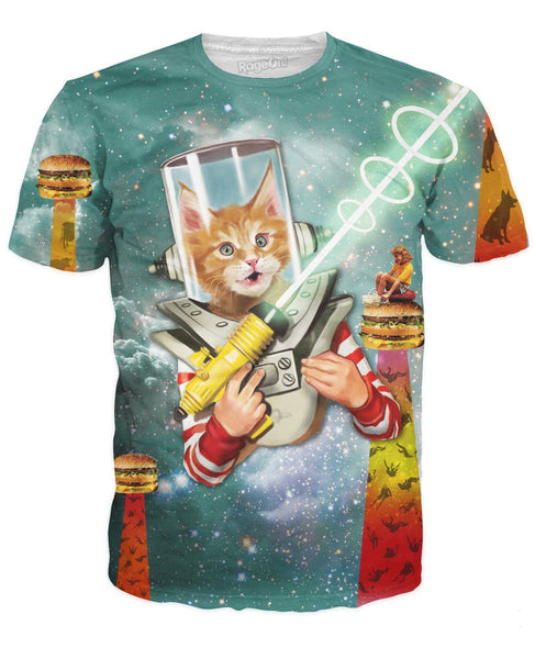 Space, Kittens, and Burgers T-Shirt