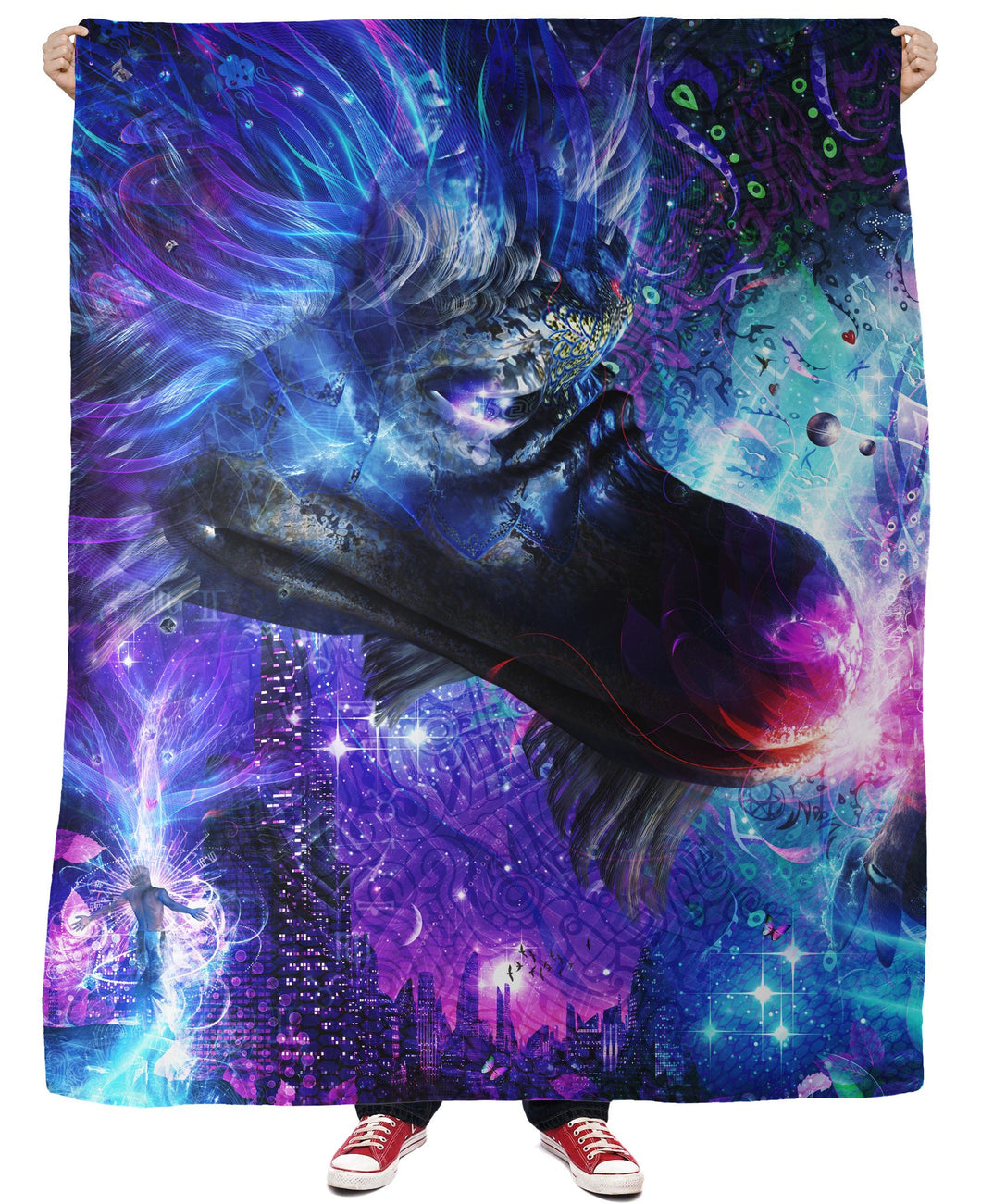 A Spirit's Silent Cry Fleece Blanket