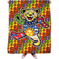 Acid Bears Fleece Blanket