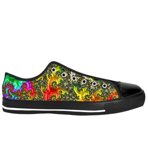 Rainbow Fractal Low Tops
