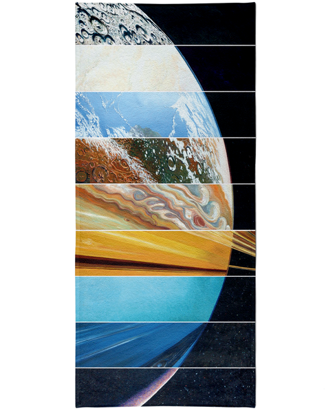 Planets Aligned Beach Towel