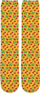 Frida Kahlo Flower Pattern Knee-High Socks