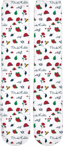 Frida Kahlo Birds & Roses Pattern Knee High Socks