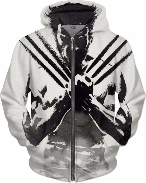 Charcoal Sketch Black and White Logan Wolverine Hoodie