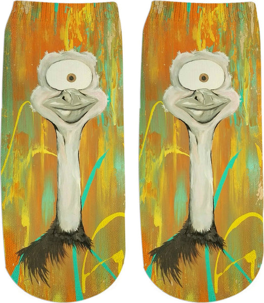 Spirit Animal Sight: Ostrich Ankle Socks