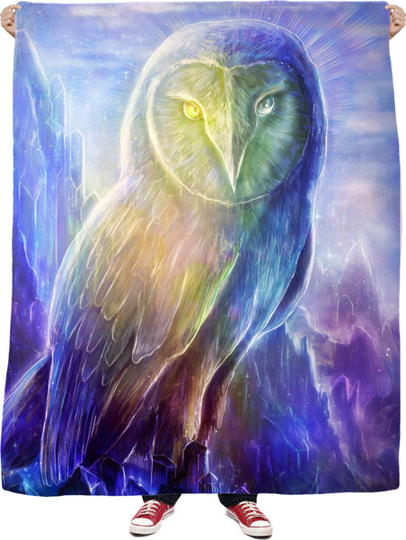 Crystaline Owl Fleece Blanket