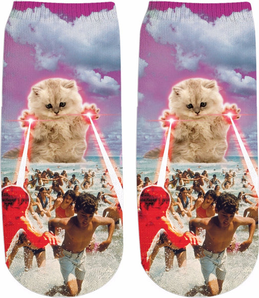 The Kitten No One Loved v2 Ankle Socks