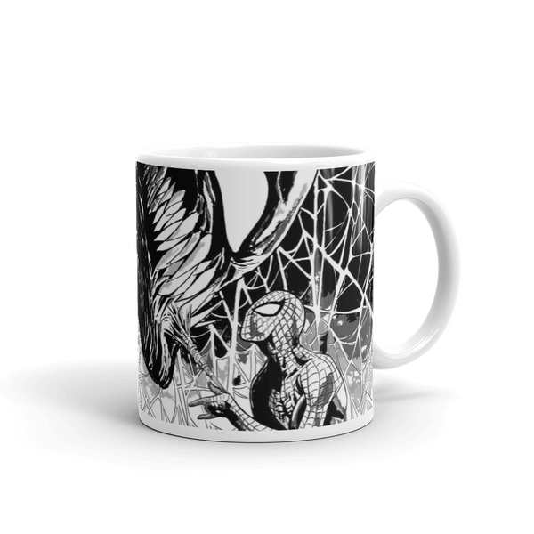 Venom and Spider-Man Face Off Mug