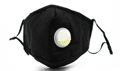 Cotton Face Mask w/ Activated Carbon Filter + Valve