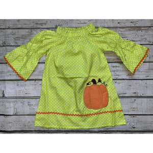 Applique and RicRac Pumpkin Dress