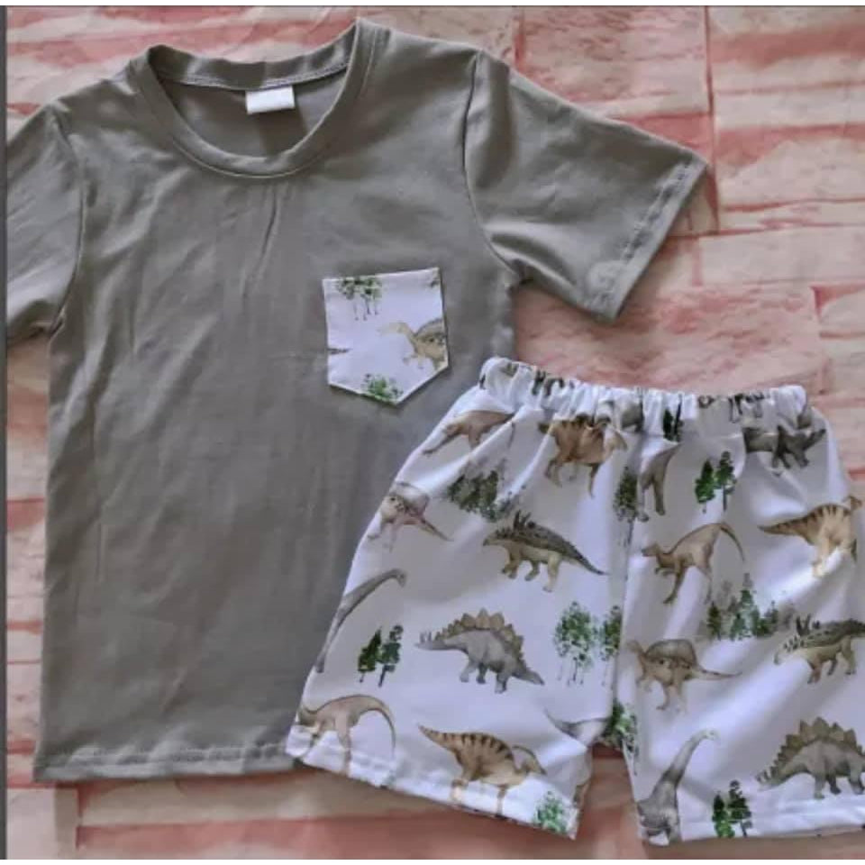 Boys Dino Short Set (PREORDER)