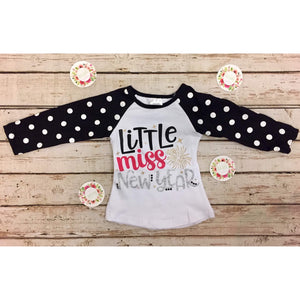 Little Miss New Years Raglan