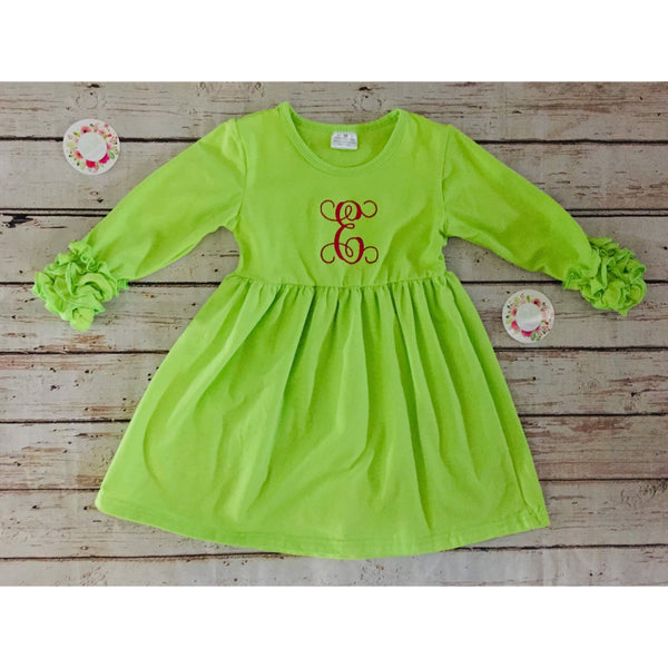 Icing Dress (Lime Green)