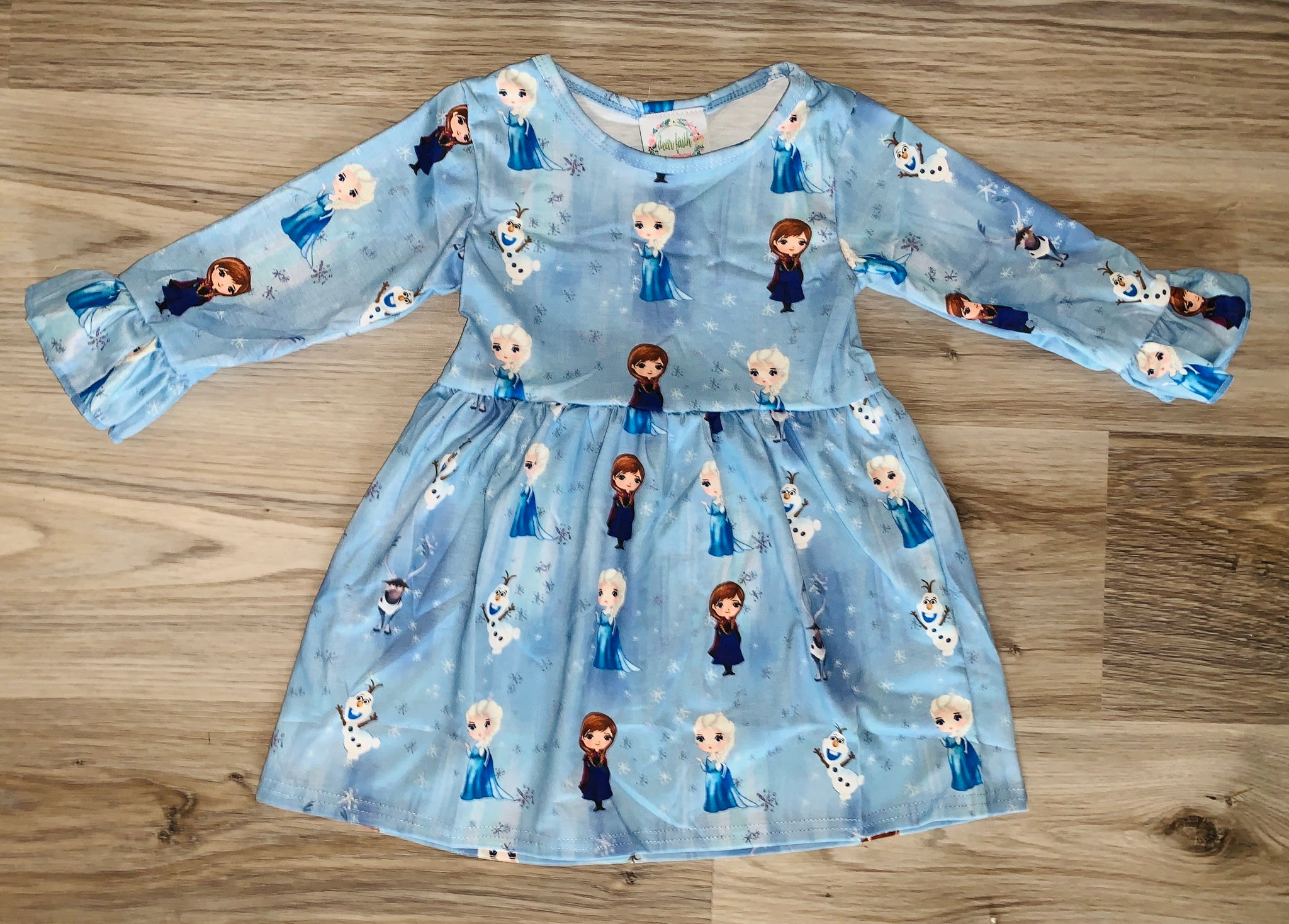 Light Blue Themed Princess Dress