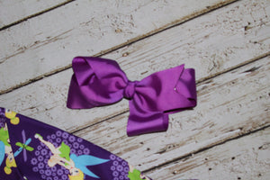 6 Inch Bow Purple