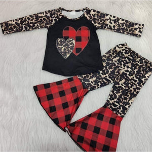 Buffalo Plaid and Leopard Print Valentine Set (PREORDER)