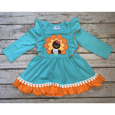 Aqua Turkey Dress