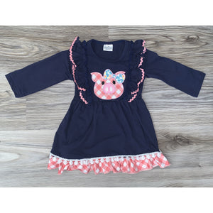 Navy Piglet Dress