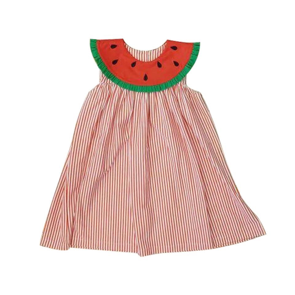 Seersucker Watermelon Dress (PREORDER)
