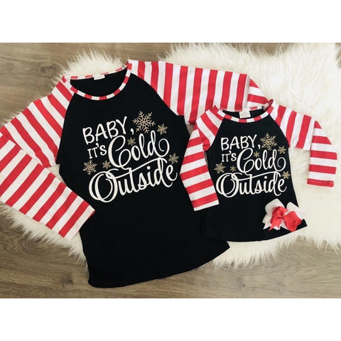 Baby It's Cold Outside - Mommy and Me Matching Raglans (PREORDER)
