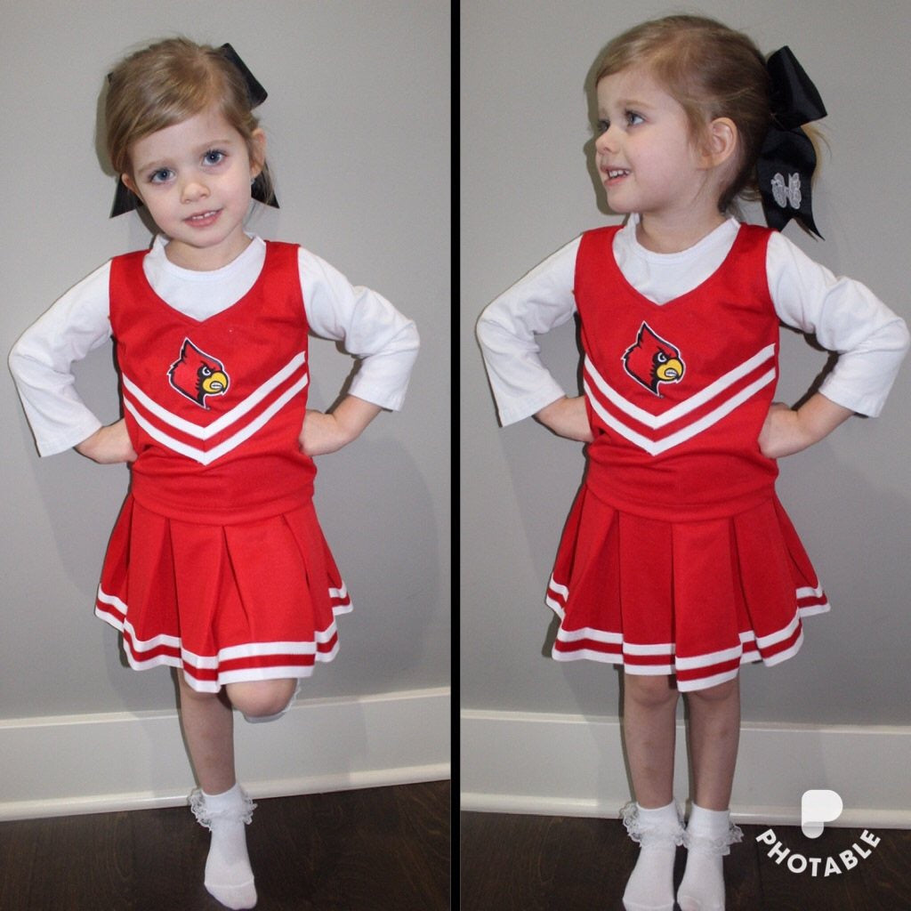 University of Louisville Cheer Leading Two Piece Set
