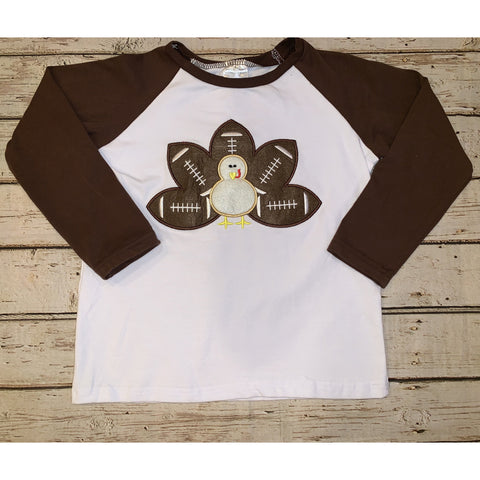 Appliqué Turkey Football Raglan