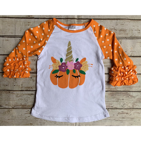 Unicorn Pumpkin Raglan