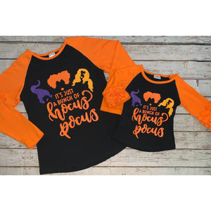 """It's Just a Bunch of Hocus Pocus"" Mommy and Me Raglans"
