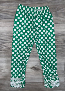 Icing Pants (Green Polka Dot)