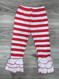 Icing Pants (Red and White Striped Triple Ruffles)