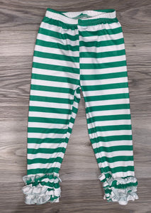 Icing Pants (Green and White Striped)