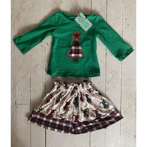 Christmas Skirt Set