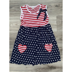 Red, White and Blue Heart Dress