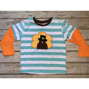 Striped Turkey Raglan
